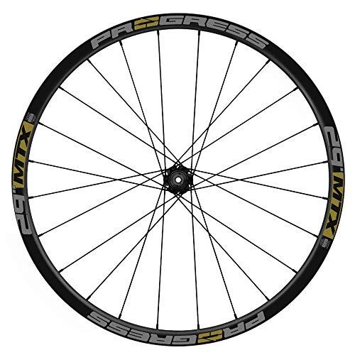 Pegatinas Llantas Bicicleta Progress MTX 29 Bicolor WH57 Dorado