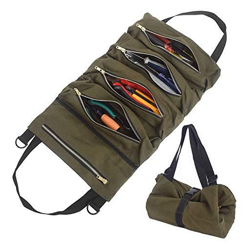 Super Tool Roll-Werkzeugtasche -Tragbare Werkzeugtasche -Leinwand-Werkzeugrolle - Tools Tragetasche -Auto-Rücksitz-Organisator