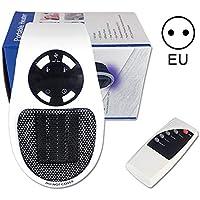 Mini Calentador Portátil Heater, Estufa Eléctrica 500W con Termostato Ajustable Tiempo Programable de 12 Horas para cuarto de baño, habitación de los niños, dormitorio, oficina, Instant Heater (EU)
