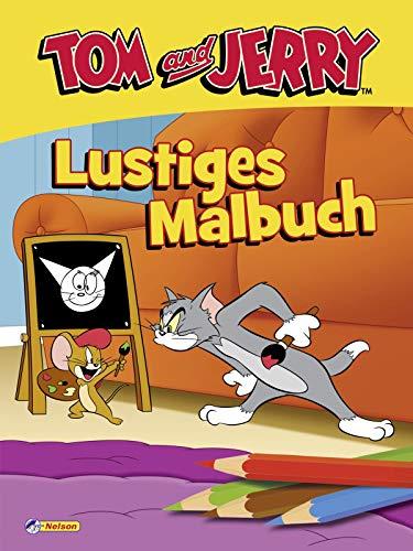 Tom und Jerry: Lustiges Malbuch: 80 Ausmalmotive mit dem beliebtesten Katz-und-Maus-Duo (ab 3 Jahren)