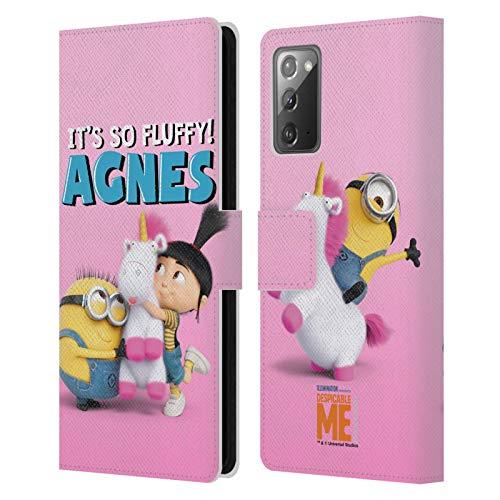 Head Case Designs Oficial Despicable Me Inés Familia de GRU Carcasa de Cuero Tipo Libro Compatible con Samsung Galaxy Note20 / 5G