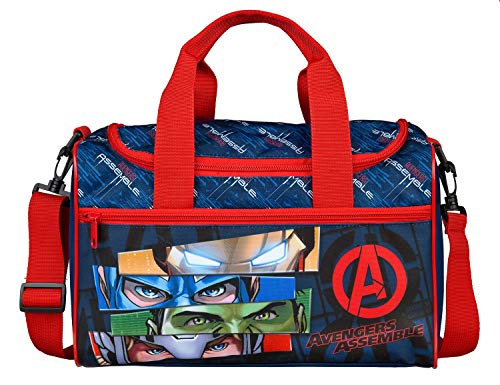 Scooli Sporttasche mit Hauptfach und Vortasche, Marvels The Avengers, ca. 16 x 35 x 23 cm, blau