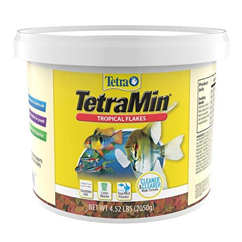 Tetra TetraMin Tropical Flakes 4.52 Pounds, Nutritionally Balanced Diet For Aquarium Fish