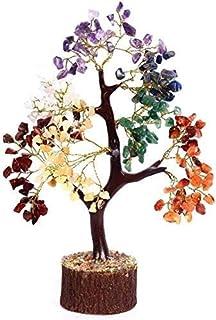 KACHVI Seven Chakra Crystal Tree for Good Luck Money Healing Vastu. Bonsai Feng Shui Tree. Home Decor Artificial Tree. Gol...