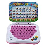 Heitamy Children Learning Laptop, English Tablet Educational Toy with LCD Screen Display Touch and...