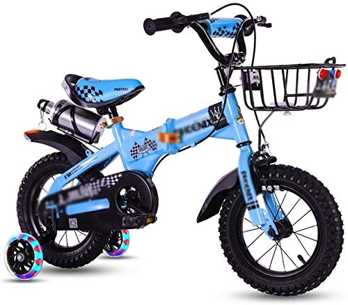 Find Bargain no logo NIAN Kids Bike Boys Girls Freestyle Bicycle with Training Wheels Kickstand Chil...