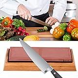 Piedra de afilar de cuchillos, piedra de afilador de cuchillos Piedra de afilar de corindón blanco para cocina casera