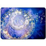 Juego de Alfombrillas de baño Antideslizantes,Reloj astronómico de Praga en el Antiguo Ayuntamiento,Cómoda Alfombra de Piso Absorbente de Microfibra de Felpa Lavable 80x50cm