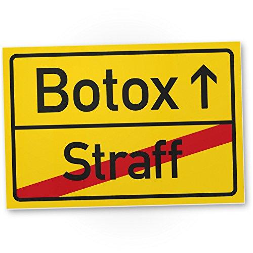 Bedankt! Botox (Straff), kunststof bord - cadeau ronder verjaardag, cadeau-idee verjaardagscadeau mannen/vrouwen, verjaardagsdecoratie, feestaccessoires, verjaardagskaart