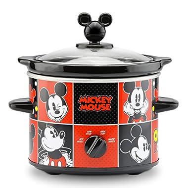 Disney DCM-200CN Mickey Mouse Slow Cooker, 2-Quart, Red/Black