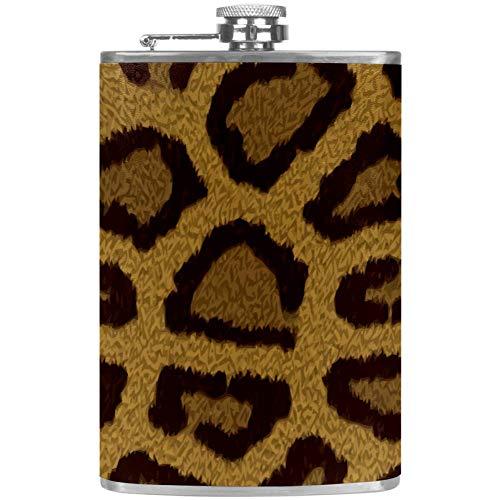 Petaca a prueba de fugas de licor, botella de 7.6 onzas, funda de piel con diseño de flagón con paisaje de playa hawaiano creativo, contenedor de bolsillo para bebidas discretas de whisky y alcohol Color2.