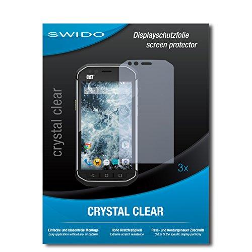 SWIDO Bildschirmschutzfolie für Caterpillar Cat S40 [3 Stück] Kristall-Klar, Extrem Kratzfest, Schutz vor Öl, Staub & Kratzer/Glasfolie, Bildschirmschutz, Schutzfolie, Panzerfolie