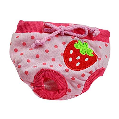 Pantalons Strawberry frais Chiens physiques Animaux Sous-vêtements pour Puppys,S