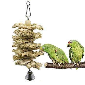 onebarleycorn – Lot de 7 Jouets à mâcher pour Oiseaux, perroquets, perruches, perruches, aras, Oiseaux inséparables