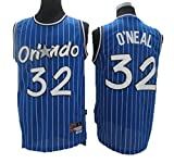 LLZYL Maglia NBA Magic 32# O'neill all-Star, Tessuto Fresco E Traspirante, T-Shirt da Jersey da Donna in Jersey da Basket da Donna,Blu,XXL:190cm/95~110kg