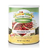 Saratoga Farms Sliced Freeze-Dried Strawberries, Dehydrated Fruit for Emergency...