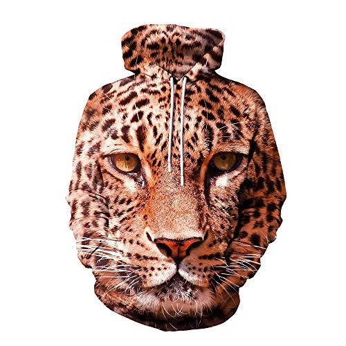 Leopard Print 3D Hoodie...
