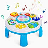 Dahuniu Baby Activity Table Musical Learning Toy 6 to 12 -18 Months Old Boy Girls Activity Center for Toddlers 1-3 Year Olds.Size 12.2 x 12.2 x 7.3 Inches