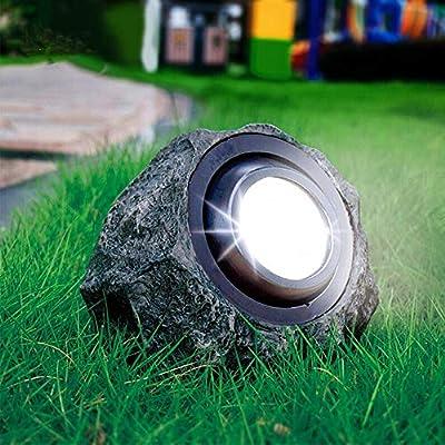 Solar Rock Lights Outdoor,Waterproof Decorative Stone Light, Dual Color Spotlight,Landscaping Figurine Lights for Decor, Garden,Pathway,Driveway,Ponds,Patio,Yard (Dual Color)