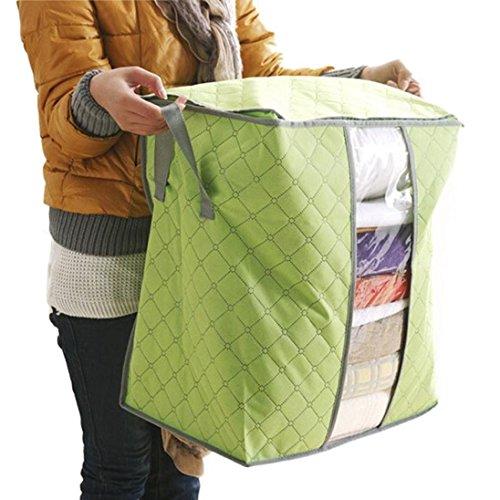 Trage-Tasche für Bettzeug oder Matratzenauflagen,Heißer Verkauf Aufbewahrungsbox Portable Organizer Non Woven Underbed Beutel Aufbewahrungstasche Box,staubfreie Kleideraufbewahrung (Mehrfarbig A)