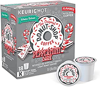 The Original Donut Shop Peppermint Bark Flavored Coffee - 18 K-cups (2 Box)