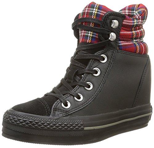 Converse A/S Hi Platform Plus Collar Le, Zapatillas Altas Hombre, Black/Red Tartan, 40 EU