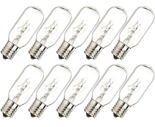 40 Watt Microwave Bulb GE - Microwave Light - Fits Most GE and Whirlpool Ovens - E17 Intermediate Base Bulb - 40 Watt 130 Volt Appliance Bulb - 10 Pack