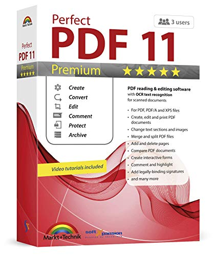 Perfect PDF 11 PREMIUM - PDF reading & editing software with OCR text recognition for Windows 10, 8.1, 7