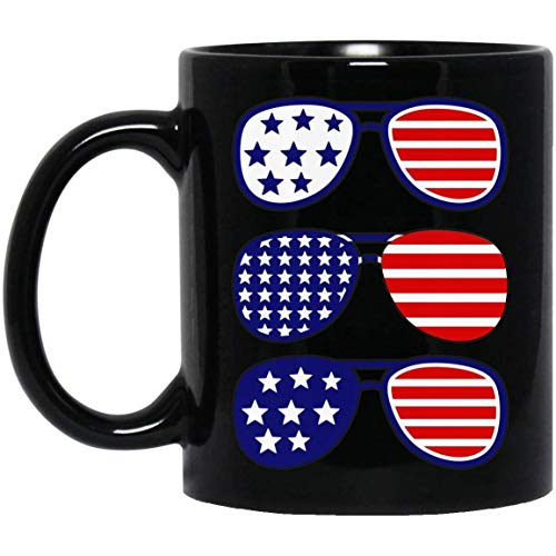 N\A Joe Biden Gafas de Sol de Aviador Taza con Bandera de EE. UU. Negro 01_29 Taza