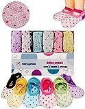 Toddler Girl Baby Socks Gift for 1-3 Year Old Girls, Anti Slip Grip