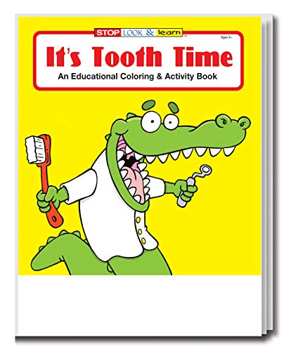 25-Pack - It's Tooth Time - Coloring and Activity Books for Kids, Without Crayons - Educational & Inexpensive Gifts for Girls and Boys - Office Supplies - Dentist Handouts - Games & Puzzles