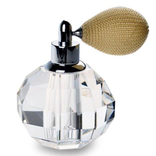 H&D Crystal Art Vaporisateur de parfum rechargeable de style vintage 10 ml (marron atomiseur court)