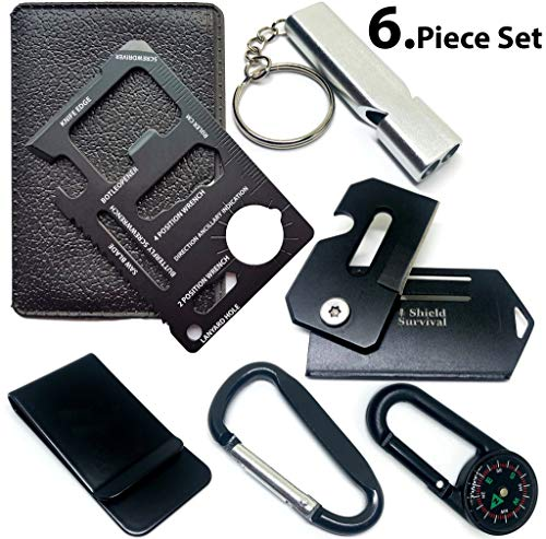 ShieldSurvival ddghf Gifts for Men Gadgets (Set of 2) Credit Card Size Tool and Knife (Black Sets of - http://coolthings.us