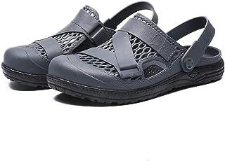 FDSVCSXV Garden Clogs Shoes Sandals Slippers Mules, Mens Lightweight Shoes for Men Summer Slippers Sandals,gray,40