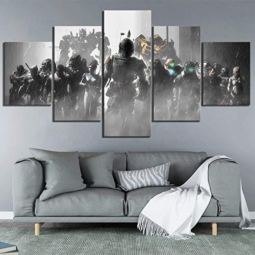 ZHANGGONG Affiche du Film Predator Dead Space-Tableau XXL 5 Parties Tableau sur Toile Tableaux Abstraits Tableaux Decoration Murale Moderne Salon Cuisine Muraux Cadre Tableau Toile Poster (100X55CM)