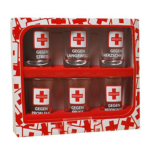 Schnapsgläser 6 Stück 7cm Medizin im Geschenkkarton Titelbild