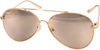 AQS Unisex Tommie Two Toned Classic Aviator Sunglasses