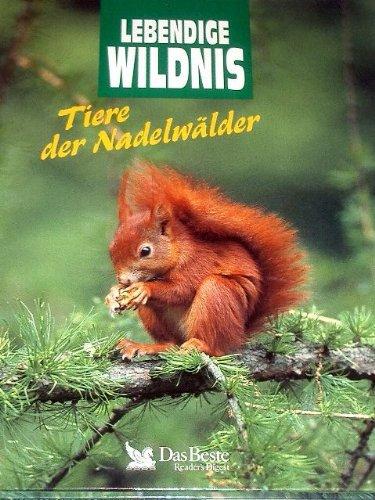 Lebendige Wildnis. Tiere der Nadelwälder. Waschbären, Wanderfalken, Nerze, Baumstachler, Baummarder, Meisen, Eichhörnchen, Bartkäuze.