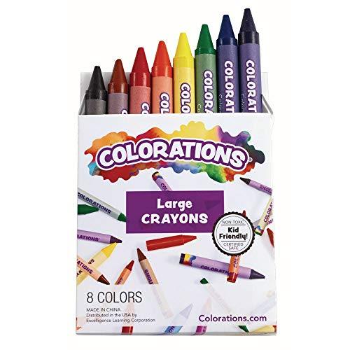Colorations CRL8 Large Crayons (Pack of 8)