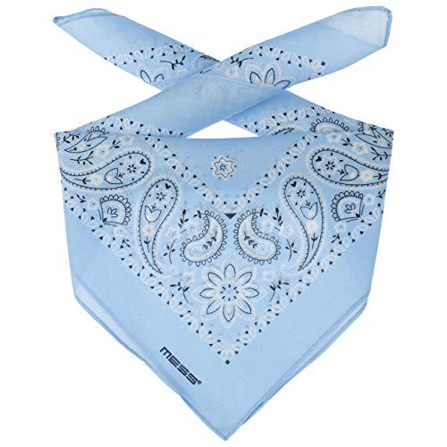 Lipodo Bandana Tuch Damen/Herren/Kinder - Kopftuch in hellblau aus 100% Baumwolle - Multifunktionstuch in Einheitsgröße (55 x 55 cm) - vielfältige Tragemöglichkeiten