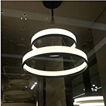 GOWE New Chandeliers Acryl Ring Led Circle Chandelier Lamp/Light Fitting Fashion Designer Pendant 2pcs body color:2 ring 3...