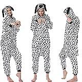 KUNHAN Pijamas Enteros Traje de Pijama de una Pieza de Animal de Dibujos Animados, versión de artículos de tocador de Servicio a Domicilio de Franela de Pareja-Lugar_LOS
