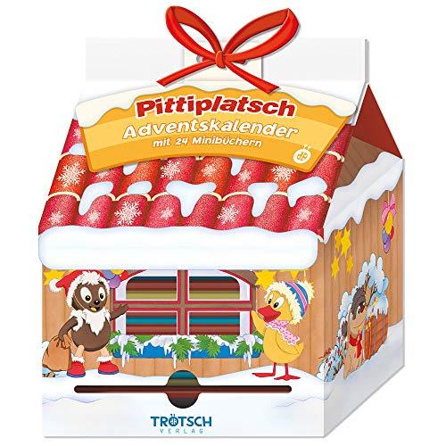Trötsch Unser Sandmännchen Adventskalender Haus mit 24 Minibüchern Pittiplatsch: Weihnachtskalender Pitti