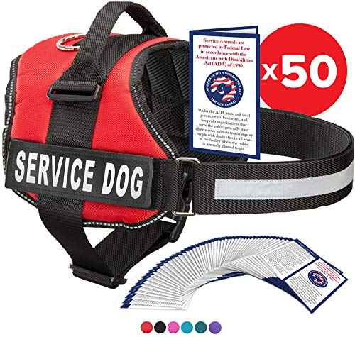 Industrial Puppy Service Dog Harness with Hook and Loop Straps and Handle