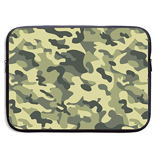 Waterproof Laptop Sleeve 13 inch, Camouflage Pattern Business Briefcase Protective Bag, Computer Case Cover for Ultrabook, MacBook Pro, MacBook Air, Asus, Samsung, Sony, Notebook