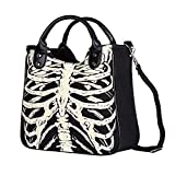 Questquo Vbiger Skeleton Bones Skulls Bags Rock Designer Female Casual Totes Women Punk