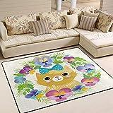 GOSMAO Area rug Area TappetoGatto Cartone Animato con Fiocco di...