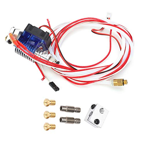 3d Printer Extruder,3d Printer Heating Element,3d Printer Part Hotend Kit Extruder Remote Terminal Set 1.75mm/0.07in 0.4mm/0.02in For V6