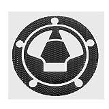 SGerste calcomanía 3D para Tapa de Tanque de Combustible para Motocicleta Kawasaki Ninja Z1000 X-6R/10R/12R/14R Z750 Z800 COD, Negro