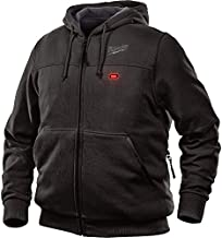 Milwaukee Hoodie M12 12V Lithium-Ion Heated Jacket Front and Back Heat Zones - Battery Not Included - All Sizes and Colors (Extra Large, Black)